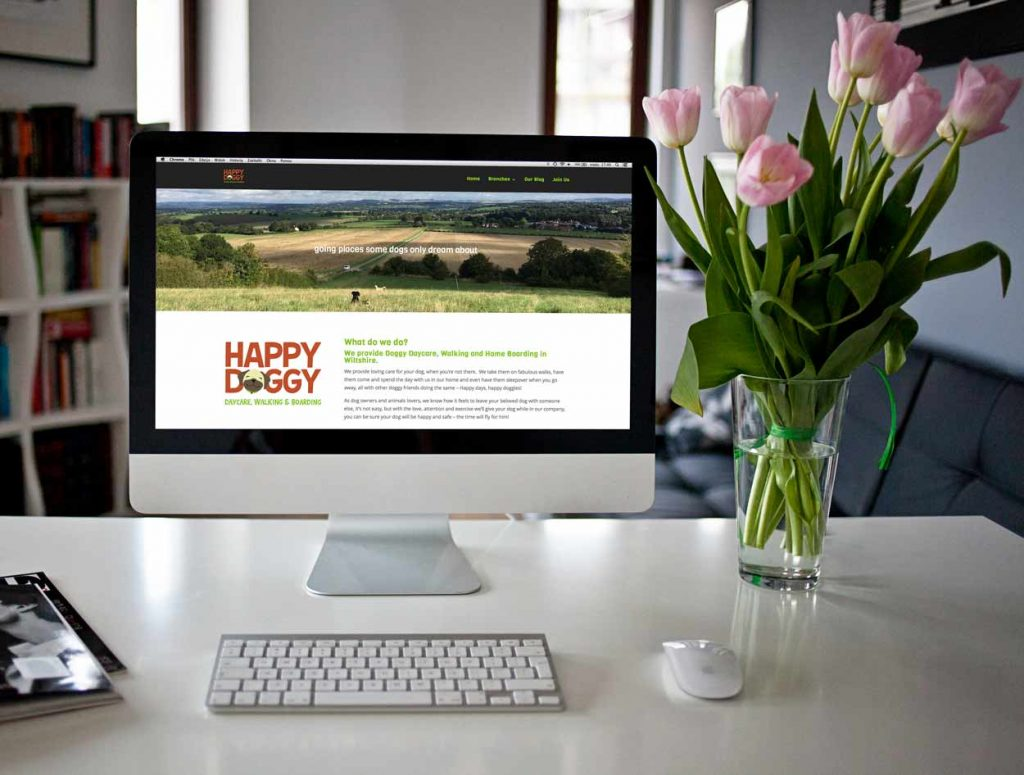 website design for dog walker