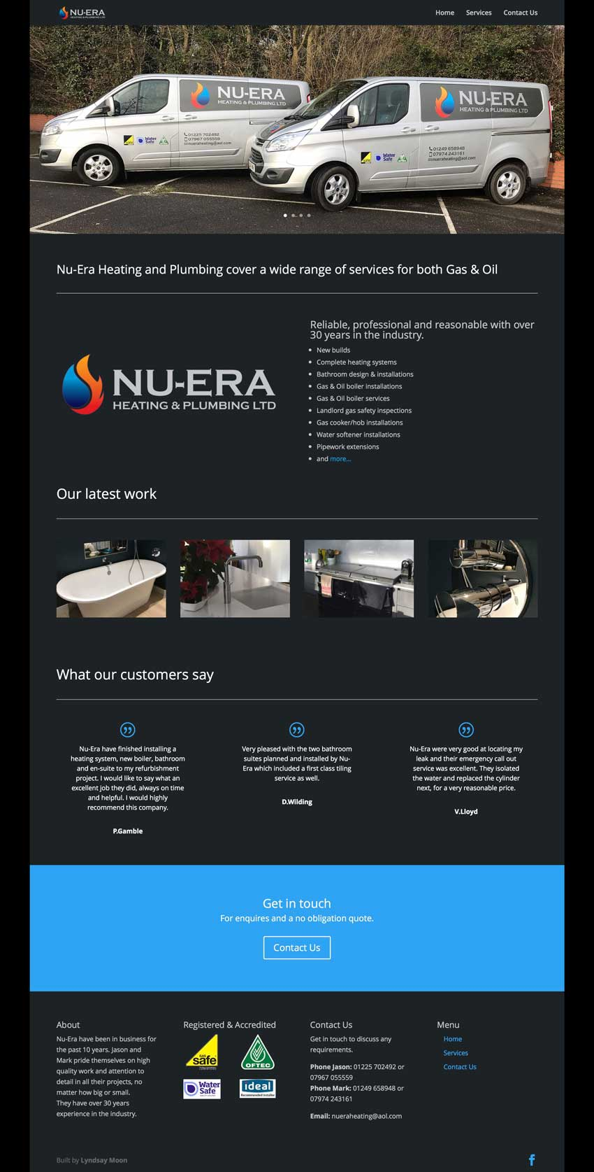 Plumbing and Heating Website Design screenshot