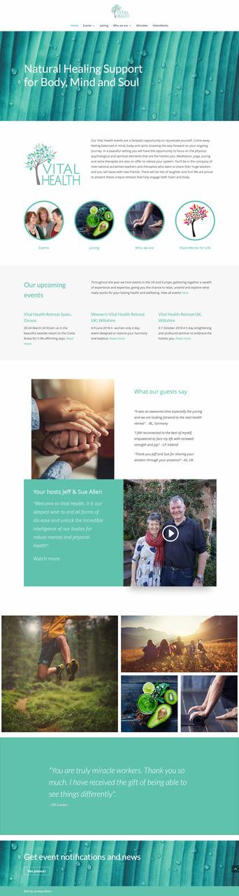 web design for health retreat