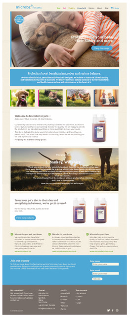 website design for natural animal products