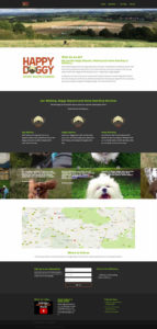 web design for a dog care company