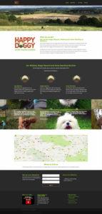 web design for a dog care company