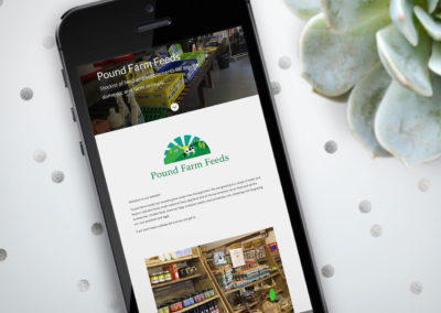 Simple site for a farm shop