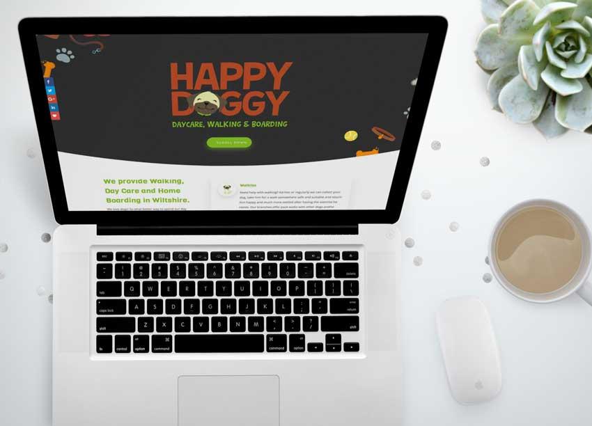 website design for a dog walker