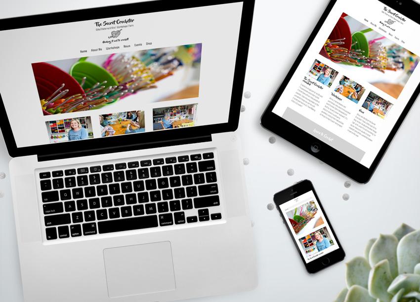 bespoke website designed for a crocheter