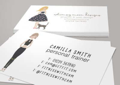 personalised portrait business cards